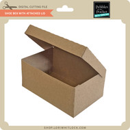 Shoe Box With Attached Lid
