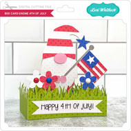 Box Card Gnome 4th of July