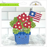 Land That I Love Geranium Box Card