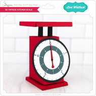 3D Vintage Kitchen Scale