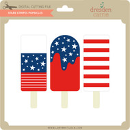Stars Stripes Popsicles