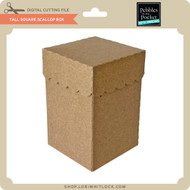 Tall Square Scallop Box