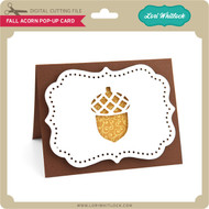 Fall Acorn Pop-Up Card