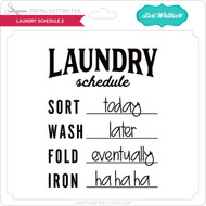 Laundry Schedule 2