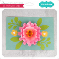 5x7 Pop Up Flower Card 6