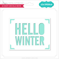 A2 Insert Card Hello Winter