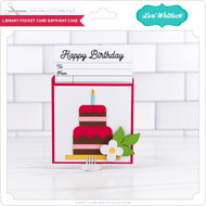 LIbrary Pocket Card Birthday Cake