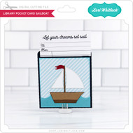LIbrary Pocket Card Sailboat