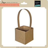Square Solid Crate Box with Handle