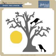 Spooky Tree & Ravens