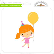 Hey Cupcake - Girl with Balloon