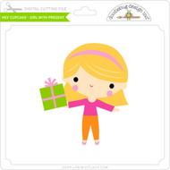 Hey Cupcake - Girl with Present