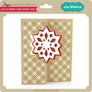A2 Flip Swing Card Snowflake