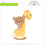 Special Delivery - Bear Rocking Giraffe