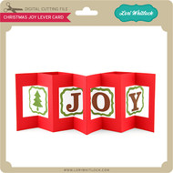 Christmas Joy Lever Card