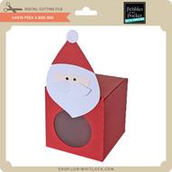 Santa Peek A Boo Box