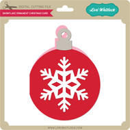 Snowflake Ornament Christmas Card