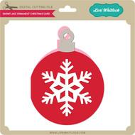 Snowflake Ornament Christmas Card