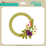 Garden Harvest Wreath with Plum Flower