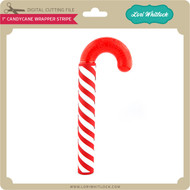 "1"" CandyCane Wrapper Stripe"