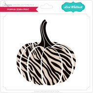 Pumpkin Zebra Print