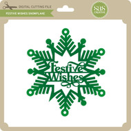 Festive Wishes Snowflake