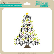 Joy Love Peace Believe Christmas 3