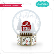 3D Snow Globe Card Barn