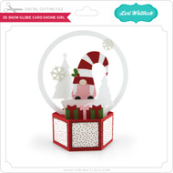 3D Snow Globe Card Gnome Girl