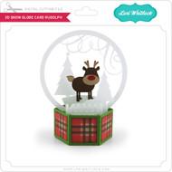 3D Snow Globe Card Rudolph