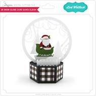 3D Snow Globe Card Santa Sleigh
