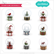 3D Snow Globe Card Bundle 2