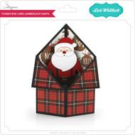 Tuxedo Box Card Lumberjack Santa