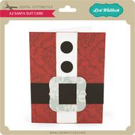 A2 Santa Suit Card