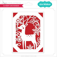 A2 Insert Card Reindeer