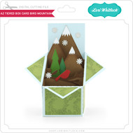 A2 Tiered Box Card Bird Mountain