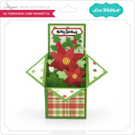 A2 Tiered Box Card Poinsettia