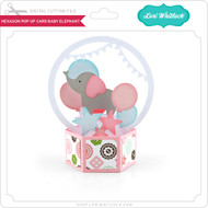 Hexagon Pop Up Card Baby Elephant