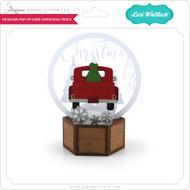 Hexagon Pop Up Card Christmas Truck
