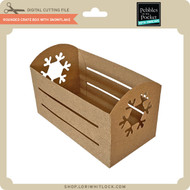 Rounded Crate Box with Snowflake