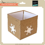 Snowflake Strawberry Box
