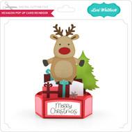 Hexagon Pop Up Card Reindeer