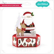 Hexagon Pop Up Card Santa