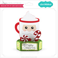 Hexagon Pop Up Card Santa Mug