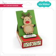 Gift Card Box Reindeer