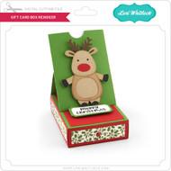Gift Card Box Reindeer