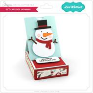 Gift Card Box Snowman