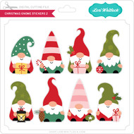 Christmas Gnome Stickers 2