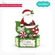 Hexagon Pop Up Card Santa Sleigh