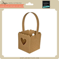 Square Scallop Crate Box with Hearts